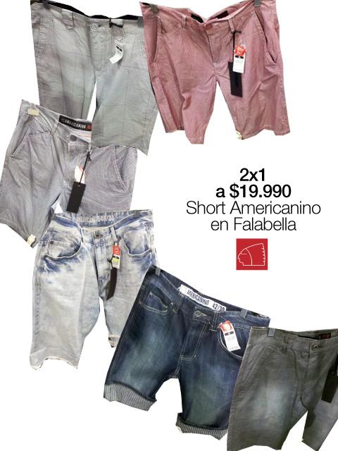 Shorts 2x1 a $19.990