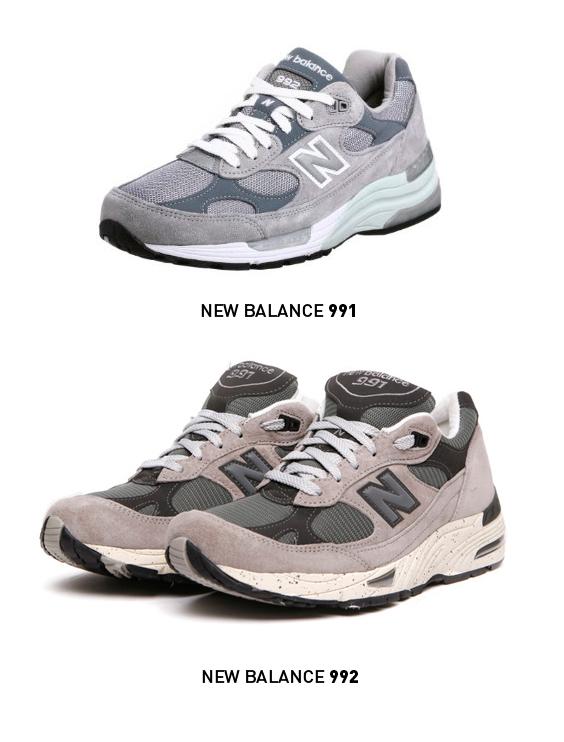 cómodas y sobrias. New Balance 991 & 992