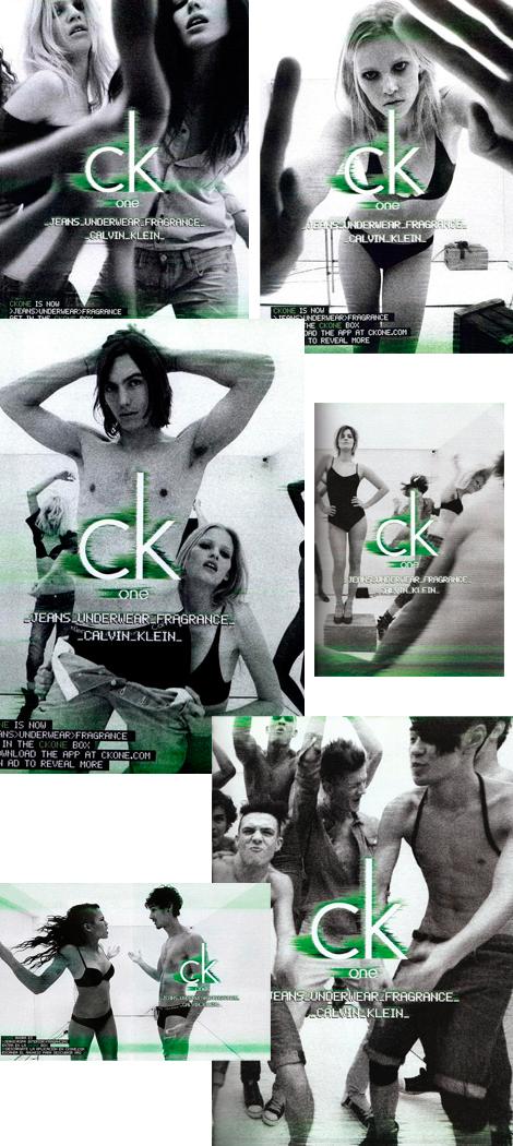 Campaña para ropa interior CK one 2011