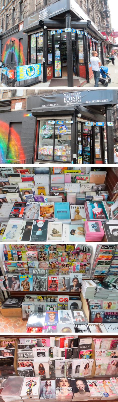 """Mulberry Iconic Magazine, """"la"""" tienda especializada en publicaciones de moda en el corazón del SoHo neoyorquino."""